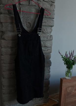 Джинсовый комбинезон комбез комбінезон плаття сукня джинсовий чорний