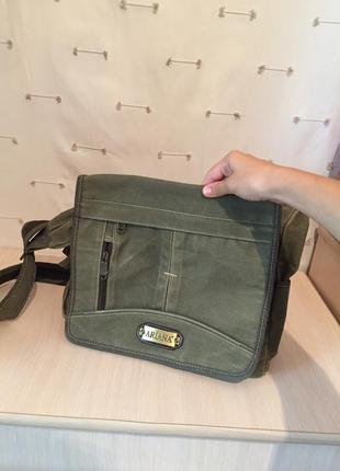 Удобная практичная мягкая сумка с длинной ручкой мужская женская