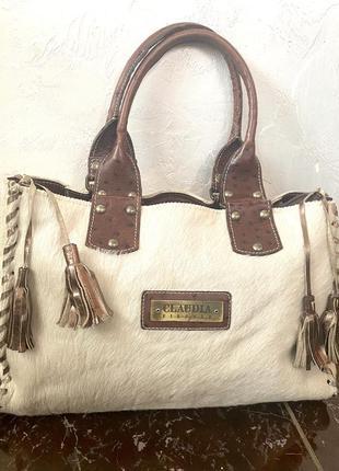Дизайнерская, кожаная сумка, италия