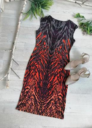 Сукня міді еластична