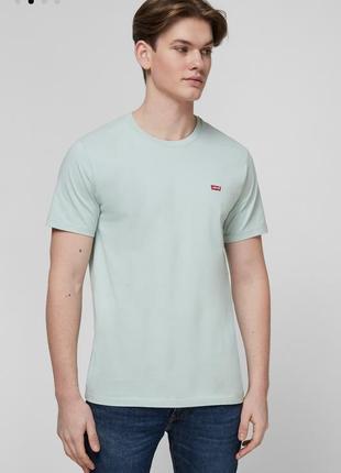 Шикарная мятная футболочка levis