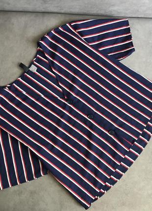 Оверсайз сорочка в смужку