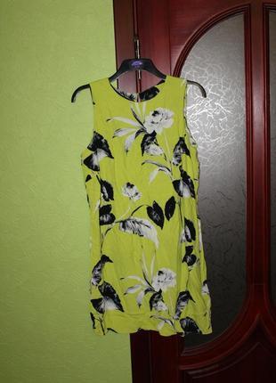 Платье вискоза 20 размер на 54 от f&f, англия