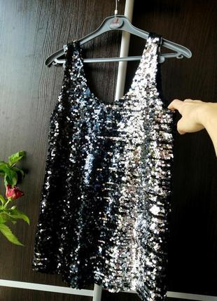 Шикарная майка блуза блузка пайетки. esmara
