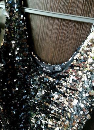Шикарная майка блуза блузка пайетки. esmara8 фото
