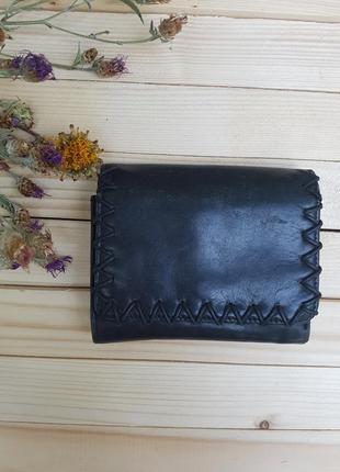 Винтажный кожаный кошелек laura ashley