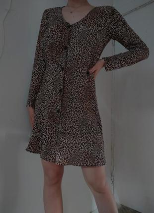 Леопардовое платье2 фото