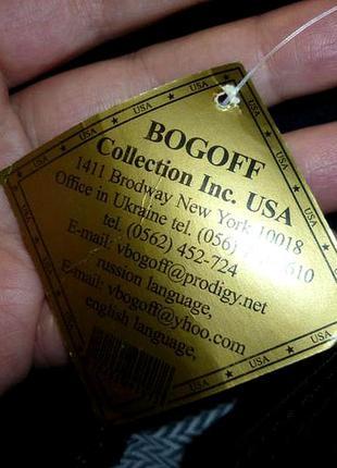 Раздельный купальник,чашки,трусики с высокой посадкой bogoff collection inc.usa черно-белый8 фото