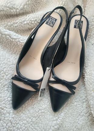 Ідеальні туфлі з гострим носком на підборах kitten heels