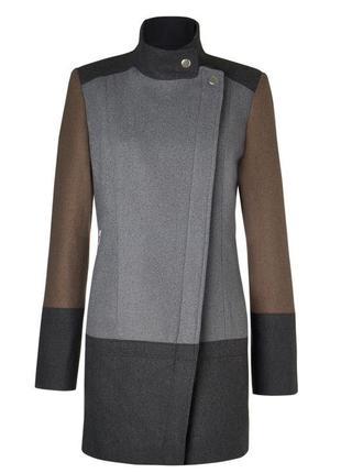 Пальто косуха комбінованих кольорів asos zara теплое пальто осень в идеале