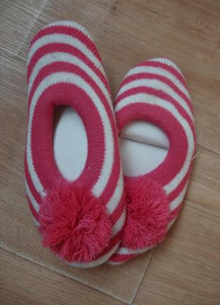 Новые тапочки - носки для девочки до 34-35 размера