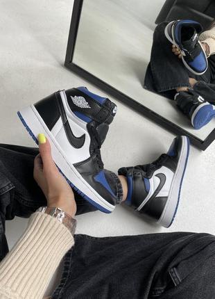"Кроссовки nike air jordan retro 1 high ""royal toe blue"