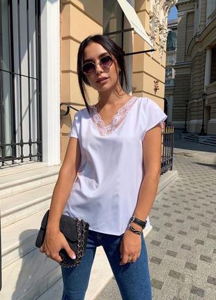 Блуза блузка женская белая нарядная кружевная черная легкая летняя
