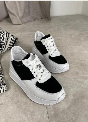 Лёгкие мягкие кожаные кроссовки gama