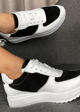 Лёгкие мягкие кожаные кроссовки gama3 фото