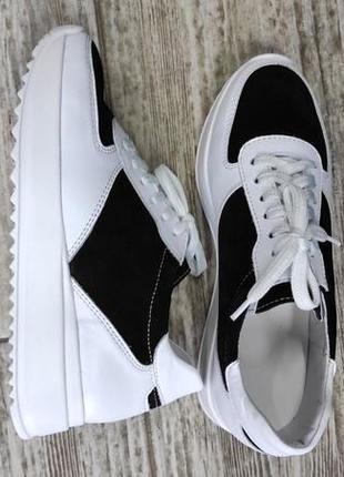 Лёгкие мягкие кожаные кроссовки gama4 фото