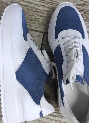 Лёгкие мягкие кожаные кроссовки gama8 фото