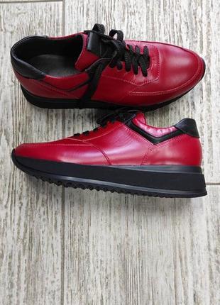 Лёгкие мягкие кожаные кроссовки gama6 фото