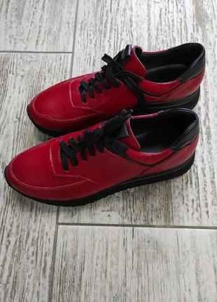 Лёгкие мягкие кожаные кроссовки gama7 фото