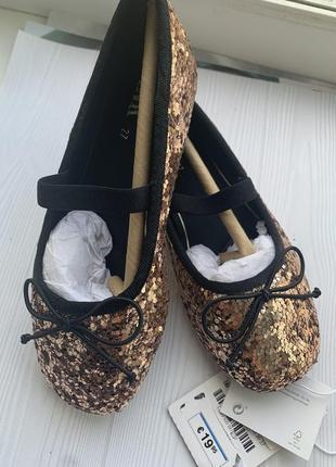 Невероятные туфельки балетки zara оригинал 27 размер