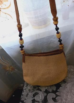 Пляжная сумка из ротанга