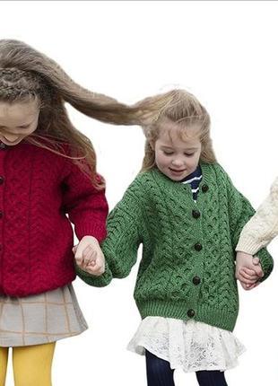 ❄️🐏 дизайнерская ирландская кофта аран 100% шерсть унисекс на 2 - 4 года супер качество!❄️🐏