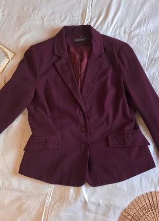 Классический французский пиджак цвета сливы alice bisous (размер 14/42)