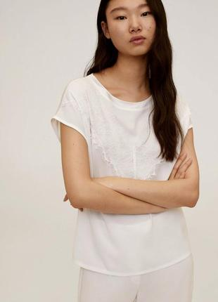 Футболка блуза белая mango