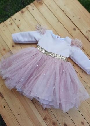Нарядное плятье, платье на годик, платье для девочки