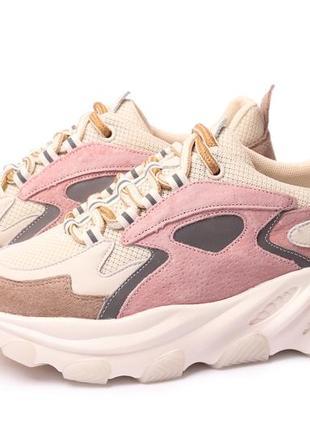 Замшевые кроссовки на платформе 39р