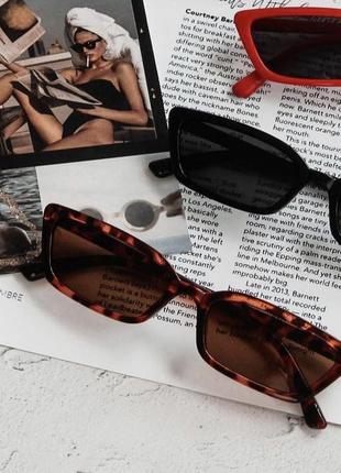 Очки окуляри винтажные в стиле 90-х трендовые леопардовые солнцезащитные лео2 фото