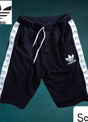 Чорні шорти з лампасами adidas