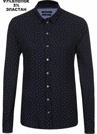 488. стрейчевая рубашка marc o polo оригинал р.м