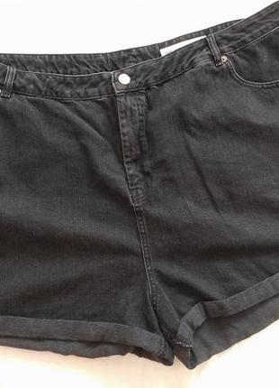 Asos short  чёрные выбеленные джинсовые шорты 26 р.