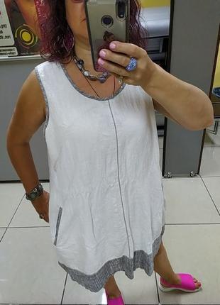 Шикарное платье большого размера.лен.2 фото
