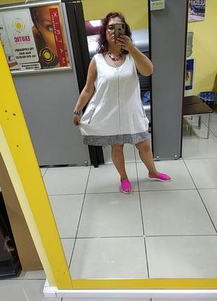 Шикарное платье большого размера.лен.4 фото