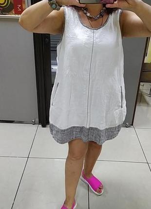 Шикарное платье большого размера.лен.5 фото
