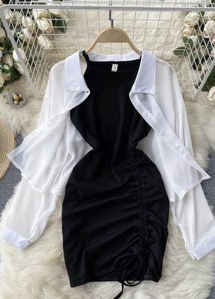 Красивый комплект платье рубашка