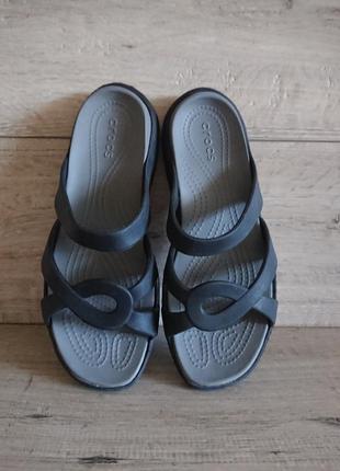 Шлепанцы шлепки крокс crocs meleen twist sandals w8 38р 24,5 см