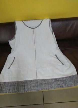 Шикарное платье большого размера.лен.6 фото