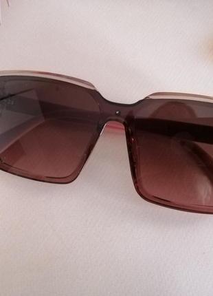 Эксклюзивные брендовые розовые солнцезащитные квадратные женские очки 20215 фото