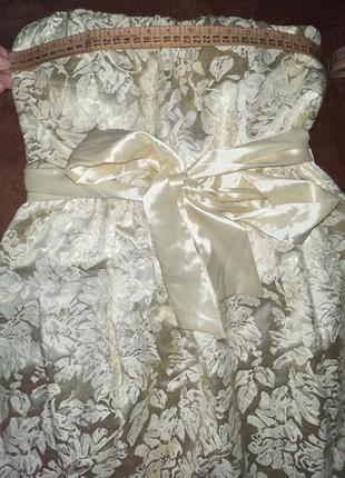 Нарядное платье, без бретелек. новое. размер с