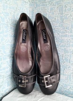Кожаные туфли gabor новые сток маленький каблук