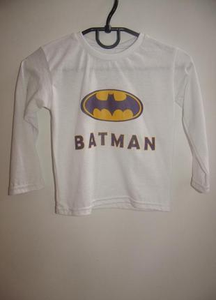 Детская белая кофточка batman с-3383. размеры: 1-2,3-4,5-6