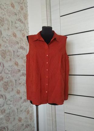Натуральная коттоновая блуза с вышивкой