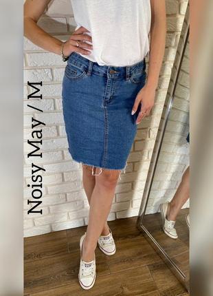 Стильная джинсовая юбочка noisy may