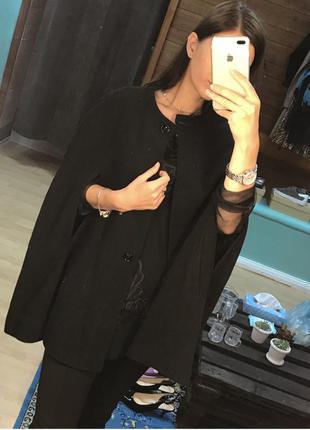 Шерстяное пальто кейп пончо индивидуальный пошив