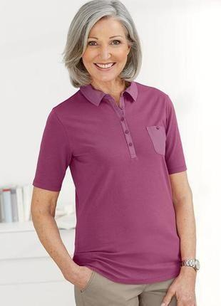 Комфортная футболка поло, рубашка от tcm tchibo, германия, р-р 36-38 евро (наш 42-44)