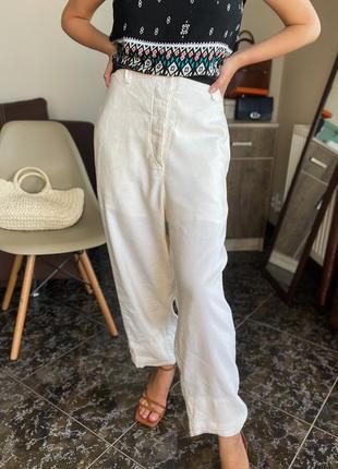Светлые льняные брюки annette görtz оригинал