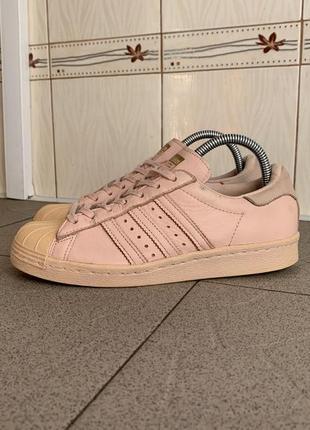 Рожеві кросівки adidas superstar кроссовки кожаные